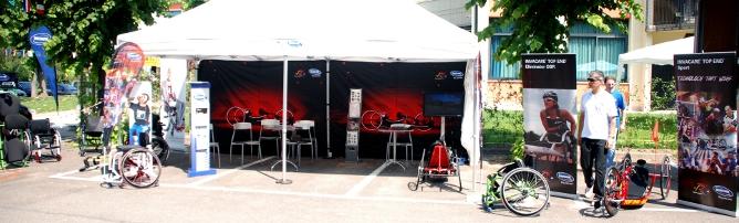 Invacare Stand mit Ausstellungsfläche für Produkte